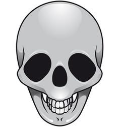 Gray skull vector