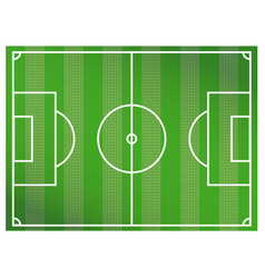 green soccer field background a realistic vector image