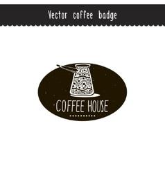Hand drawn coffee brand design element vector