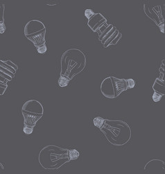 hand drawn of the light bulb vector image