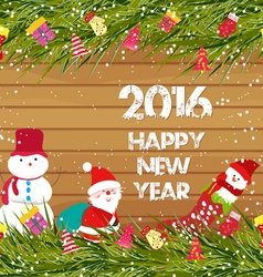 Happy new year 2016 christmas background with vector image