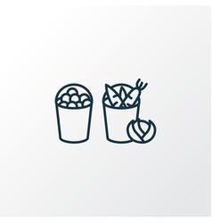 harvest icon line symbol premium quality isolated vector image