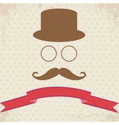 Hipster on dot vintage background vector