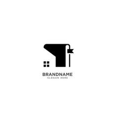 Home book logo design library symbol icon vector