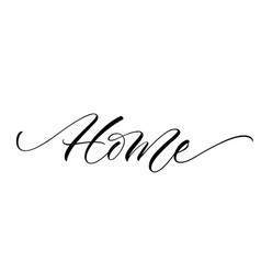 Home lettering vector