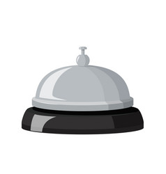 Hotel metall bell with black base vector