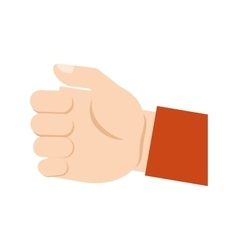 Human hand gripping isolated icon vector