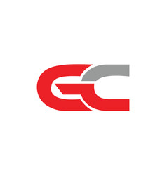 initial letter gc or cg logo design vector image