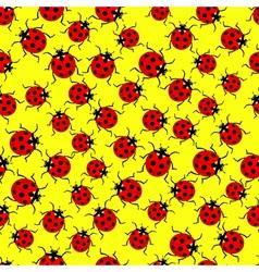 Ladybug pattern vector