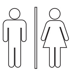 male and female bathroom line icon vector image