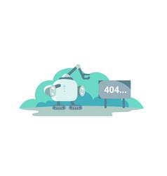Moonwalker stopped opposite the sign 404 error vector