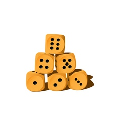 Object dice vector