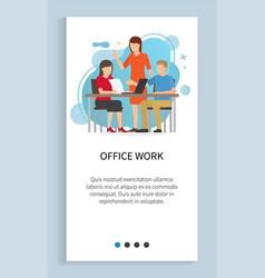 office work people thinking business development vector image