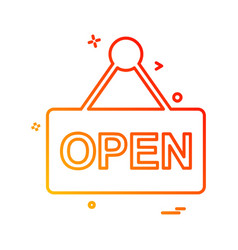open board icon design vector image