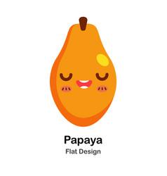 Papaya flat icon vector