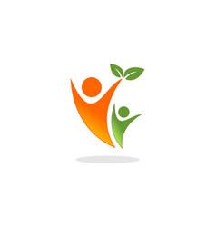 people leaf vector image