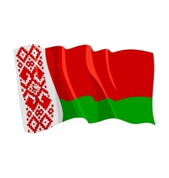 Political waving flag of belarus vector