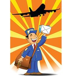Postman under plane vector