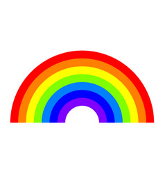 Rainbow icon vector
