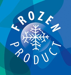 Round logo for frozen products vector image