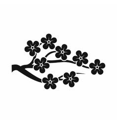 Sakura icon simple style vector