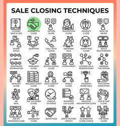 Saleclosingtechniques64px36iconseps vector