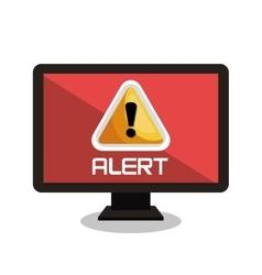 Screen system alert virus design vector