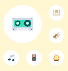 set of studio icons flat style symbols with violin vector image
