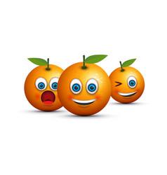 Set of three oranges vector