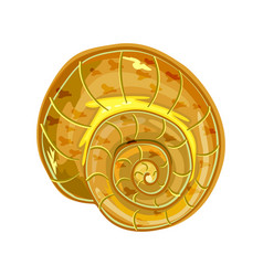 Shell isolated on white background conch icon vector