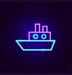 Ship neon sign vector
