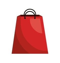 Shopping and commerce isolated flat icon vector image