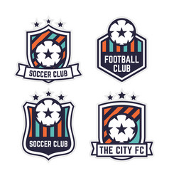 Soccer or football club logo or badge set vector