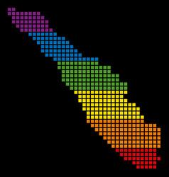 Spectrum pixel lgbt sumatra island map vector