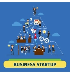 Success business teamwork concept vector image