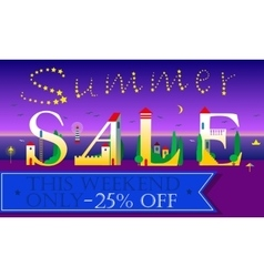Summer Sale This weekend only 25 percents off vector