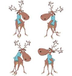 The complete set of deer vector image