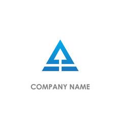 triangle arrow up company logo vector image