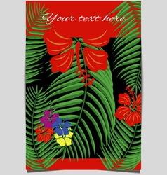 Tropical design cover vector