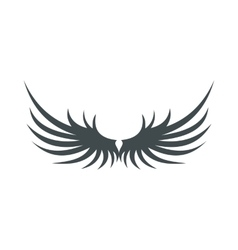 Two grey wing icon flat style vector image