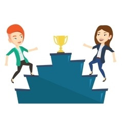 Two women competing for the business award vector image