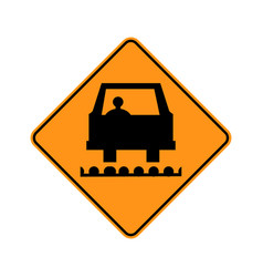 usa traffic road signspavement has been milled vector image