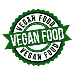 vegan food label or sticker vector image