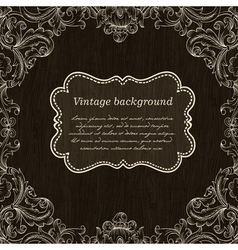 vintage label on wooden background vector image