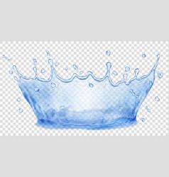 Water crown splash of water transparency only in vector