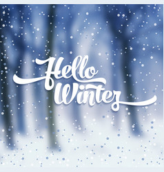 white text with snow on the background of snow vector image