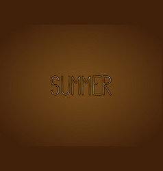 word summer written in gold stylized letters vector image