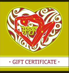 yoga gift certificate 2 vector image