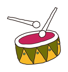 A view of drum vector image