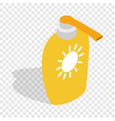 bottle of suntan cream isometric icon vector image